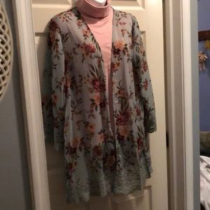 Jolt/Beautiful Floral juniors over jacket